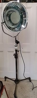 Vintage adjustable dental surgery medical floor light adapted to increase height