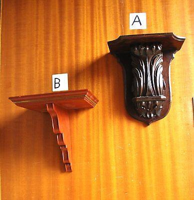 Two wall mounted wooden Clock Brackets
