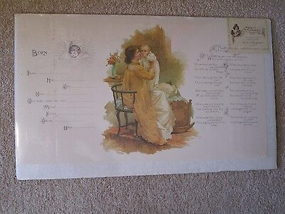 Old Print Factory Reproduction of an original Baby's Birth Stone Lithograph