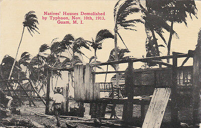 Native Homes demolished by Typhoon , GUAM , 1913