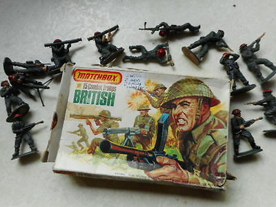 Vintage 1976 Matchbox Soldiers 132 Scale Ww2 British Army Infantry & Airfix