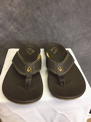 Olukai Kekoa Flip Flop Sandals (Men's) Size: 10M - Dark Java