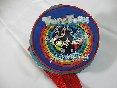 Vtg 1990 TINY TOONS ADVENTURES LOGO Lunch Snack Pak Fanny Pack w/ Red Strap