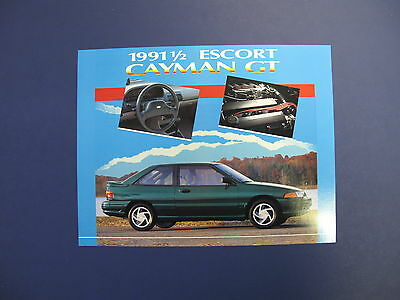1991 1/2 Ford Escort Cayman GT Sales Brochure C5272