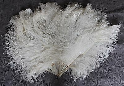 Antique Victorian Ostrich Feather Fan x 2 for spares/repairs