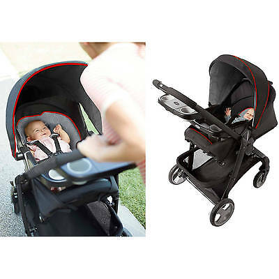 Graco Modes Click Connect Convertible Baby Stroller Solar Single Travel Seat NEW
