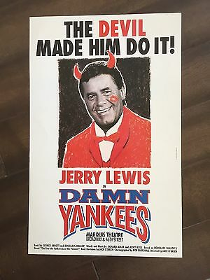 "14"" X 22"" Poster of the show ""Damn Yankees""-Starring Jerry Lewis"