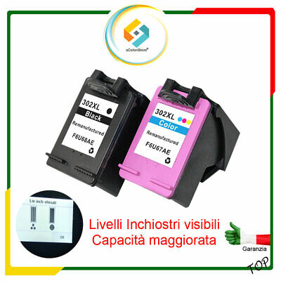 2X Cartuccia per HP 302XL Nero e Colore OfficeJet 3800 Series OfficeJet 3830