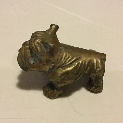 Old, Antique Brass Bulldog Measures 2.5 Inches in Length and Weighs 7.3 Ounces