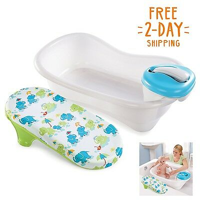 Baby Bath Tub Newborn Infant Safety Toddler Support Portable Bathing Seat Blue