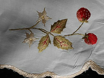 """Antique Society Embroidered Doily 19"""" Round"""