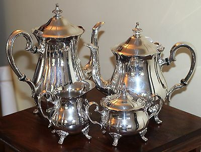 Exceptional Quality Silver Plate Coffee and Tea Set
