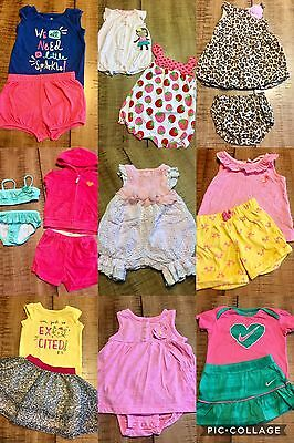 Baby Girls Sz 6,6-9,9 M Clothing Mixed Lot 20 Pc Summer Outfits EUC