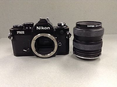 Vintage Nikon FM2 35mm SLR film Camera Body + Lens + Bag **FREE SHIPPING