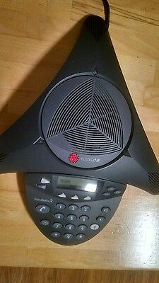 Polycom SoundStation 2 Non-Expandable Conference Phone Black