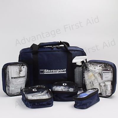 Multi Sport Medical First Aid Kit with Internal Zipper Bags. Compact Case & Bag