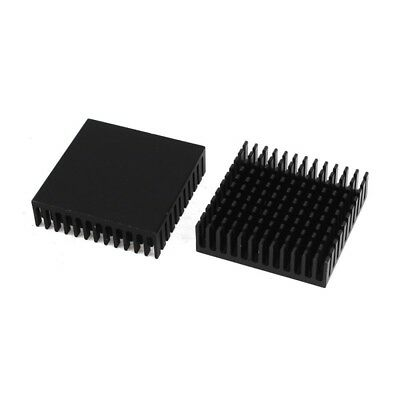 2 x Black Aluminum Radiator Heat Sink Heat Sink 40 x 40 mm x 11 mm C8X1