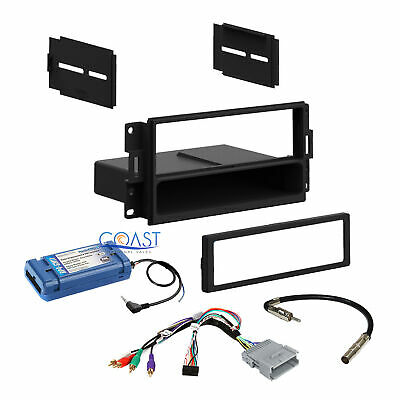 Car Radio Stereo Dash Kit Amplified SWC Harness for 2004-08 Pontiac Grand Prix