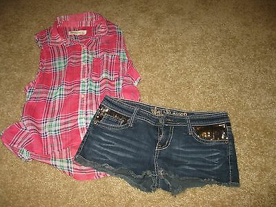 38p Juniors Spring/Summer Clothing Lot Size Small 3/5 Shorts/Tank tops/Skirts