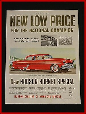 June 19, 1954 Hudson Hornet Car Ad ~ Special Club Coupe