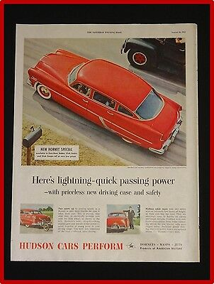 August 28, 1954 Hudson Car Ad ~ Hornet 4-Door Sedan