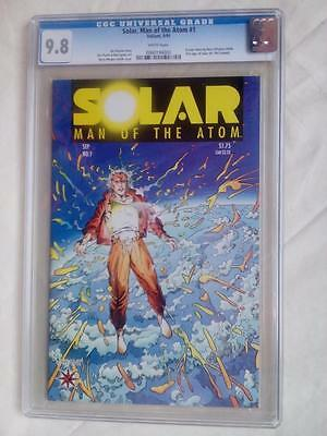 SOLAR MAN OF THE ATOM #1 CGC 9.8 (1991) 1st. SOLAR WHITE PAGES!