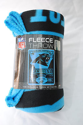 Carolina Panthers Fleece Blanket Throw, Marquee Design
