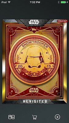 Topps Star Wars Digital Card Trader Gold FA Snowtrooper Revisited Insert