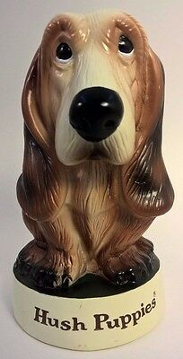 Vintage Hush Puppies Plastic Basset Hound Dog Piggy Bank