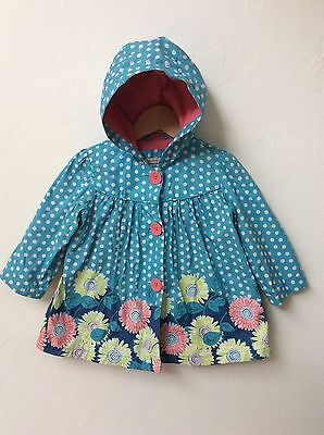John Lewis Baby Girls Waterproof Rain Coat Jacket Mac With Hood, 12-18 Months
