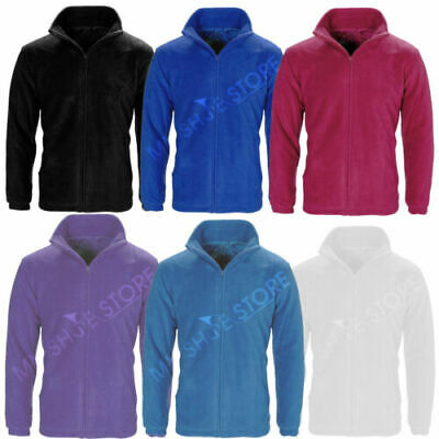 New Mens Women Ladies Unisex Polar Polo Fleece Jacket Anti  Pill Work Coat Top