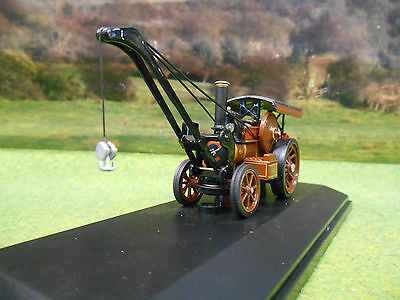Oxford 1/76 Fowler B6 Crane Steam Engine Wolverhampton Wanderer  76Fcr002