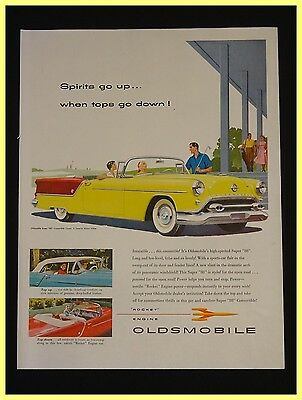 """August 28, 1954 Oldsmobile Car Ad ~ Super """"88"""" Convertible Coupe"""