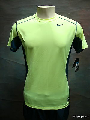 Nike 698244 Men's Pro Combat S/s Shirt Fitted Training Top Gym Running Tennis