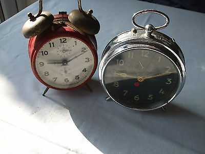 Two vintage German alarm clocks