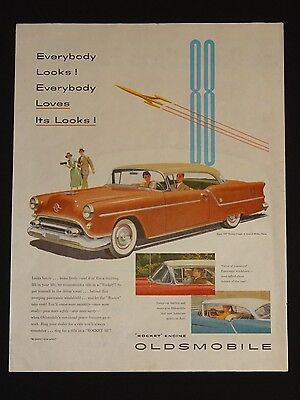 """June 19, 1954 Oldsmobile Car Ad ~ Super """"88"""" Holiday Coupe"""