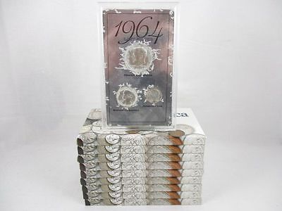 "10 U.S. ""Coins Of America"" 1964 Last Silver Sets Of Coins"
