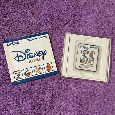 "Brother Embroidery Disigns Card  ""Taste of Disney"" - 16 Charactors Rare"