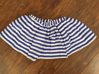 EUC Babygap Gap baby girls 18-24 months blue and white striped twirl skirt lined