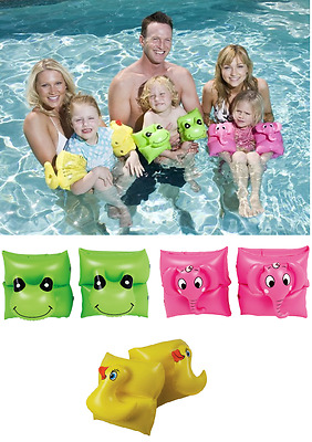 Children 2Pcs Inflatable Arm Band Blow Up Safe Fun Kids Swimming Assorted Animal