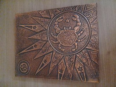 Creative Copper Art Cancer Star Sign