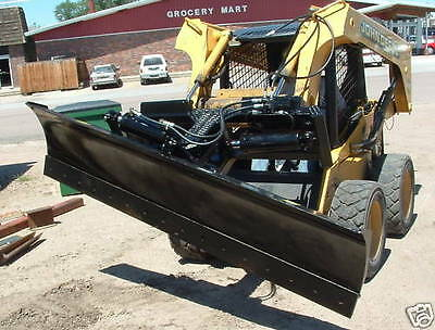 new heavy 8 foot six way dozer blade for skidsteer also snow plow fits bobcat