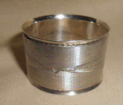 Antique Sterling Napkin Ring Sterling Thread Design World's Columbia Exposition
