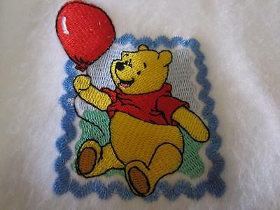 Disney's Winnie the Pooh Bear Embroidered Baby Infant Bunting Blanket $35 NEW
