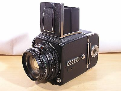 Lovely Hasselblad 500CM Camera w/80mm F2.8 Zeiss Planar-C T*+A12 Back+W.L.Finder