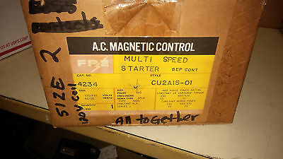 Fpe Cu2A1S-01 Nib Size 2 3P Multi Speed Starter 120V Coil See Pics #a60