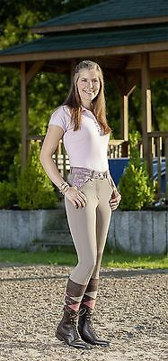 NWT USG Ladies Full Seat  Breech the Chloe Beige with Paisley Accents 30 Long