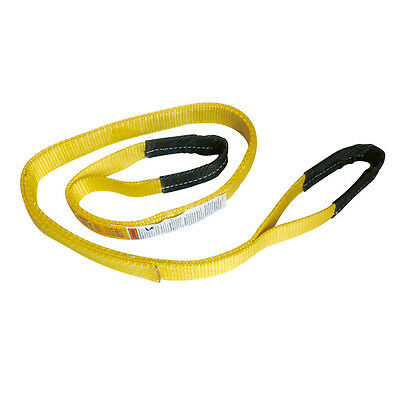"4"" x 16' Polyester Lifting Sling Eye & Eye 2 Ply Tow Strap"