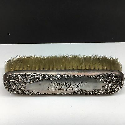 Antique Sterling Silver Victorian Decorative Hair Brush Monogrammed 3 oz