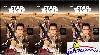 (3) 2016 Topps Star Wars the Force Awakens Series 2 Sealed HOBBY Box- 6 HITS